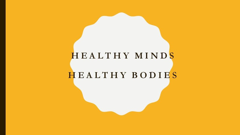 Healthy Minds Healthy Bodies (Socio Cognitive Intervention) (Public Safety) (Physical Fitness)   Purpose: The purpose is to identify the connection between the mind and body through the study of culture, environment, and spirituality. Moving beyond the basic definition of fitness to include emotional, physical, mental and spiritual wellness.