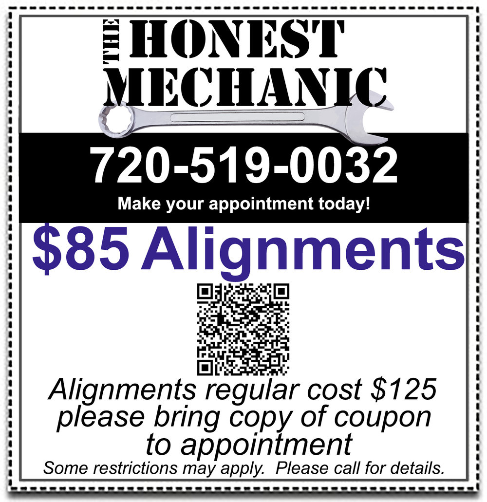 $85 Alignment coupon