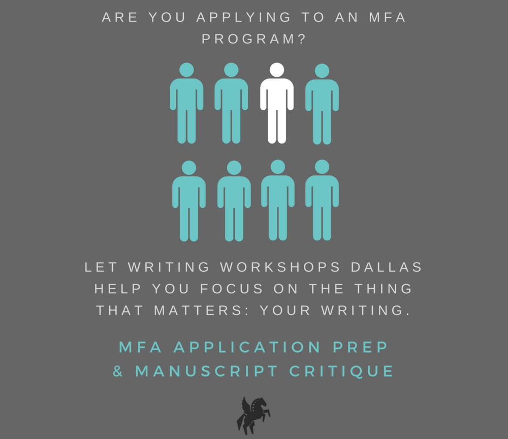 Creative writing MFA application preparation services and manuscript critique