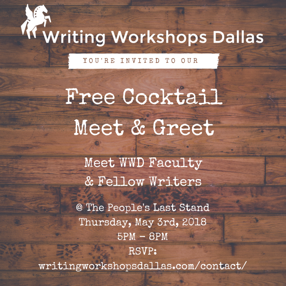 Free Cocktail Meet & Greet at Writing Workshops Dallas