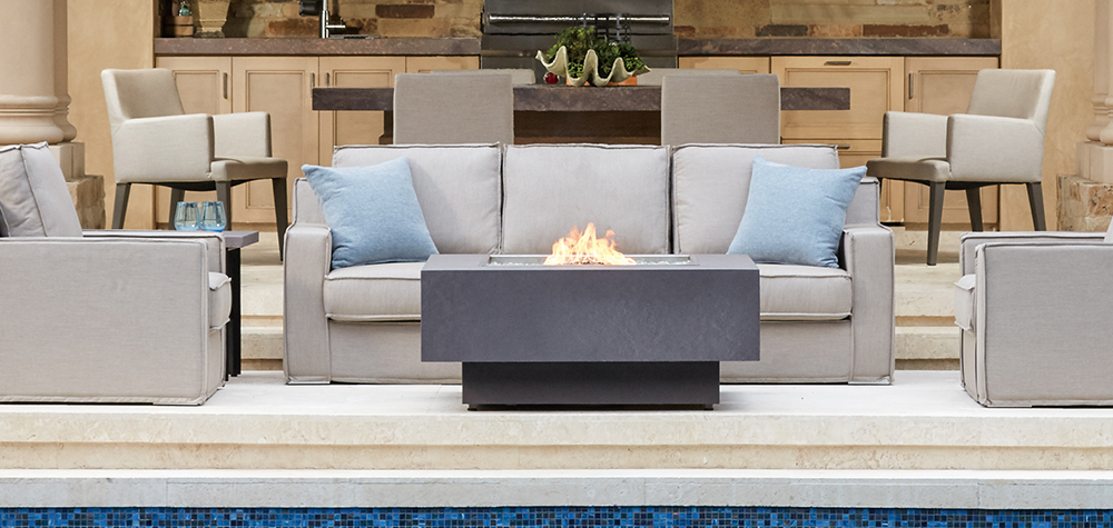 FAUX CONCRETE FIREPIT (RECTANGLE)