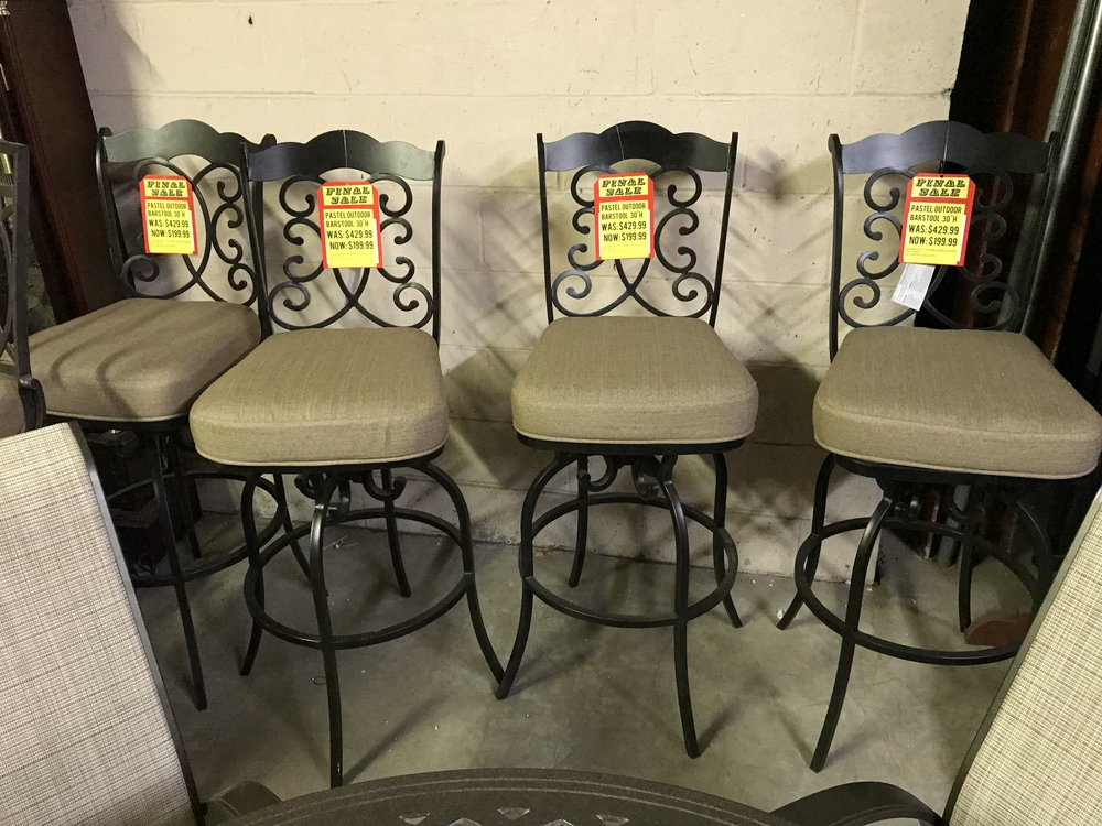 PASTEL OUTDOOR STOOLS - SALE: $199.99 EACH