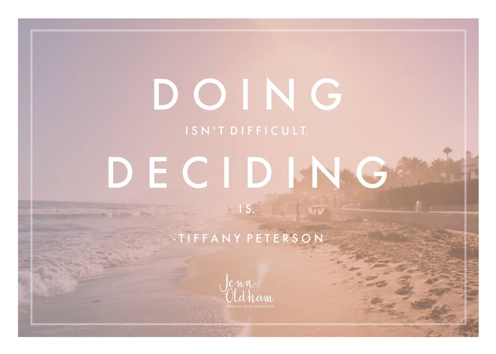 Doing isn't Difficult Deciding IS
