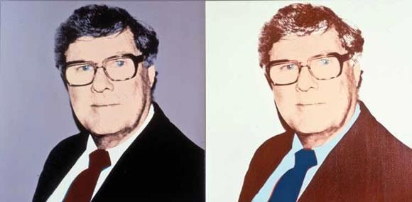 """Andy Warhol porträtierte den Kunstsammler mehrmals, hier 1984. Die """"New York Times"""" schrieb,Weismans Kollektion – 400 Teile befinden sich allein im Carolwood Drive – sei """"eine der besten privaten Modern-Art-Sammlungen"""", Kollegen in der Kunstszene nannten den Multimillionär recht wagemutig und einen """"Maverick"""" – mit gelegentlicher Neigung zum Kitsch"""
