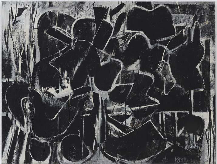 """In den 40er Jahren kauften Marcia und Fred Weisman """"Pink Angels"""" und """"Dark Pond"""" von Willem de Kooning – und zwar gleich beide Bilder, weil sie sich nicht entscheiden mochten, für 35.000 Dollar. Heute sind sie mindestens das Hundertfache wert"""