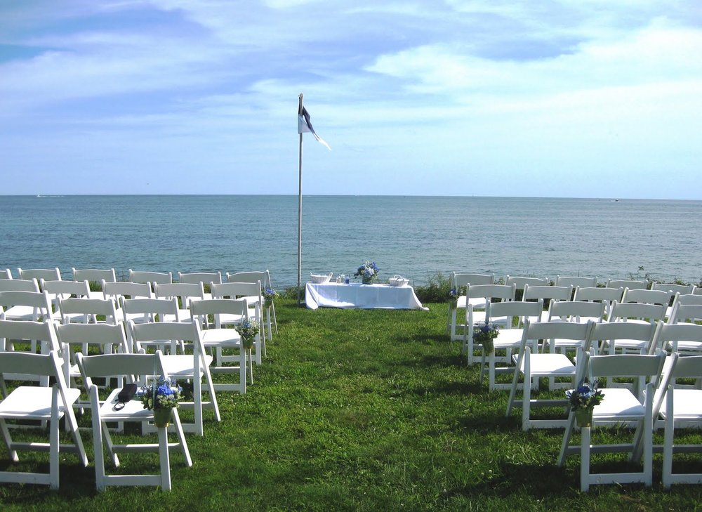 Private beachfront resort for your Cape Cod Wedding! 400 feet of private beach with premier views for your wedding reception.