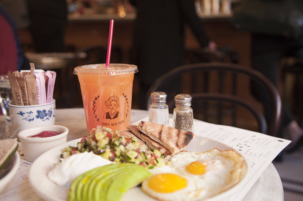 The Mediterranean breakfast - a favorite of Maya's.