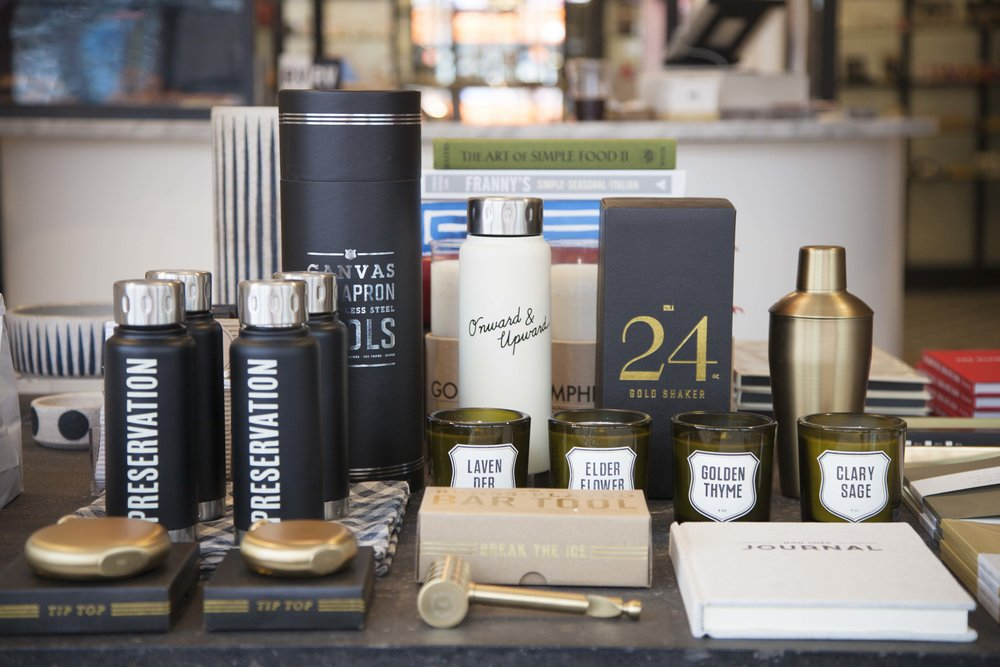 An assortment of Izola products on display at Regular Visitors.