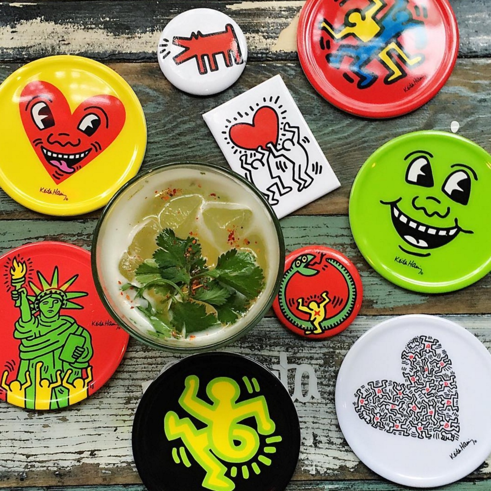 Chalk Point Kitchen uses an eclectic mix of plateware, including custom plates featuring art by Keith Haring. (Photo by Chalk Point Kitchen)