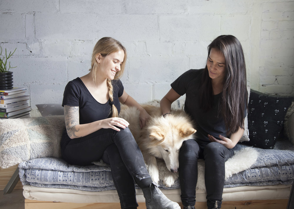 Franca co-founders Jazmin de la Guardia and Sierra Yip-Bannicq at their Brooklyn studio.