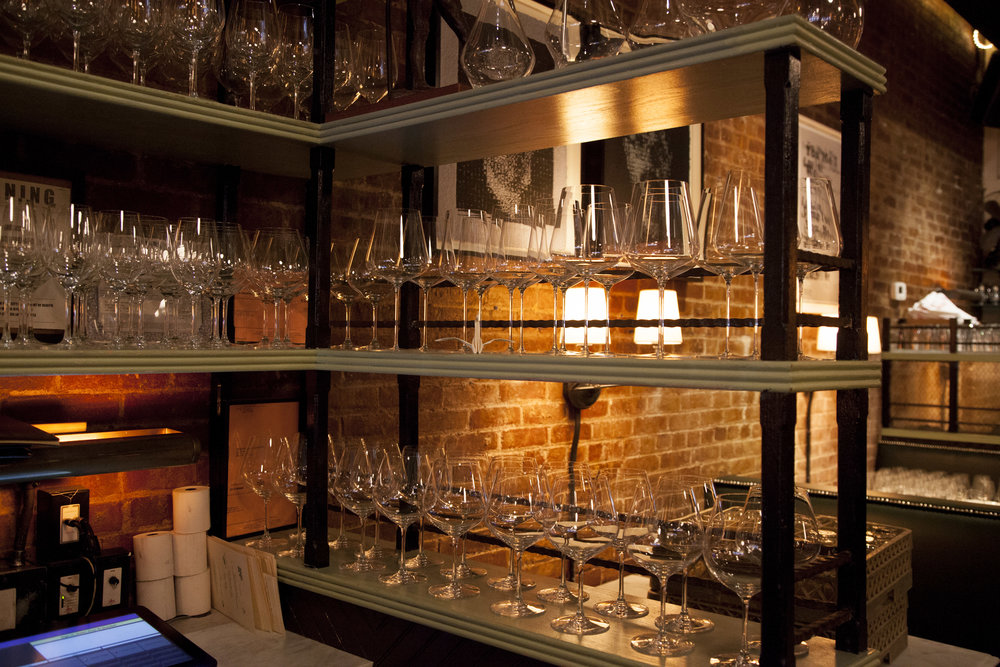Acme uses the unbreakable series of glassware from Korin.