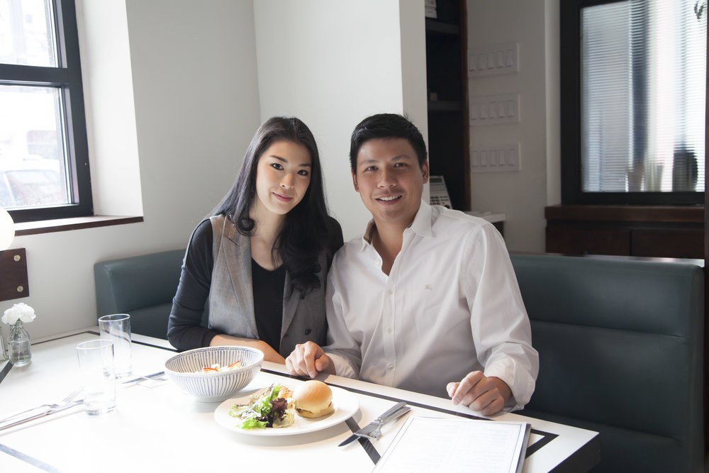 Ivy Tsang and Jonathan Chu, co-founders (along with Selwyn Chan, not pictured) of  Nickel & Diner .