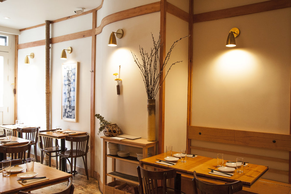 Like the menu, the interior of Bessou is cozy and comforting, while incorporating Maiko's modern and minimalist aesthetic.