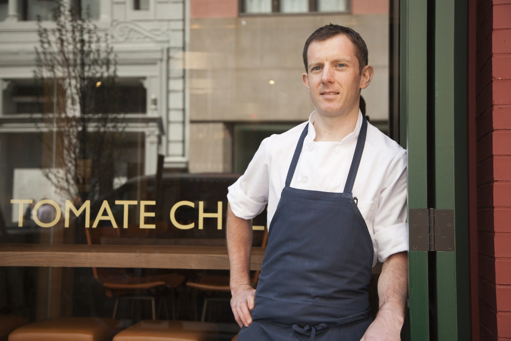 Executive Chef Andy Bennett at his restaurant Rouge Tomate, in Chelsea.