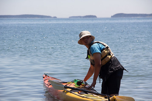 David kayaks the Maine coast