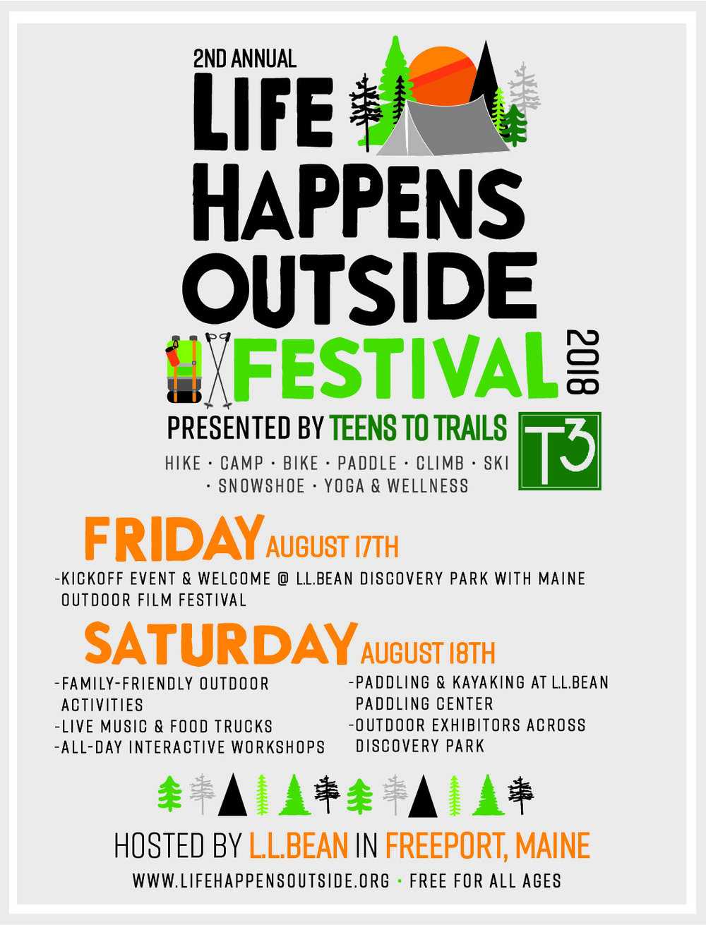 Life Happens Outside Festival poster
