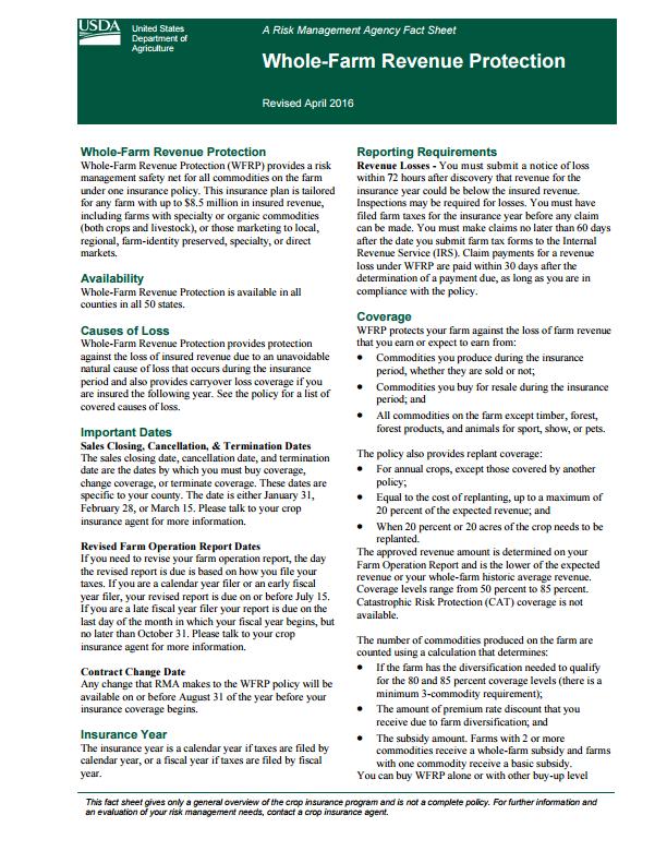 WFRP Fact Sheet