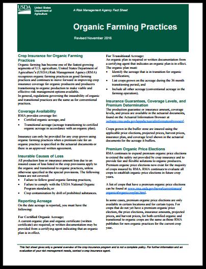 Organic Fact Sheet