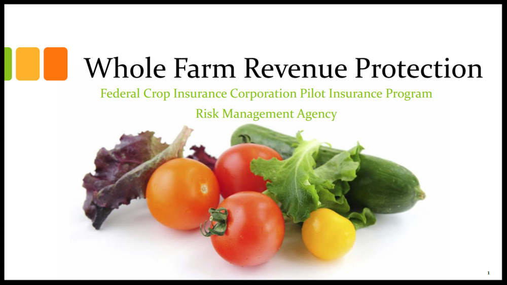 Whole Farm Revenue Protection Training Presentation