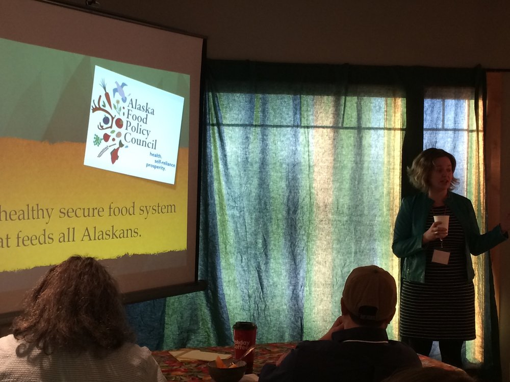 Amy Pettit with the Alaska Farmtrust & Alaska Food Policy Council.
