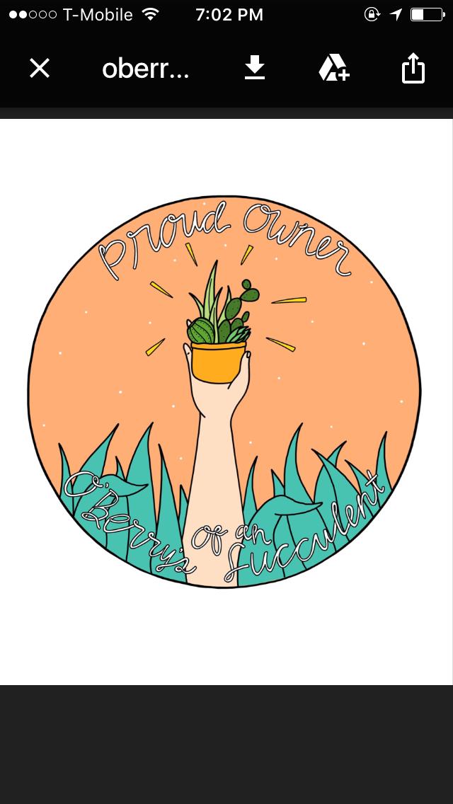 Sneak peek of O'Berry's Succulents customer appreciation sticker. Design by Anna Núñez