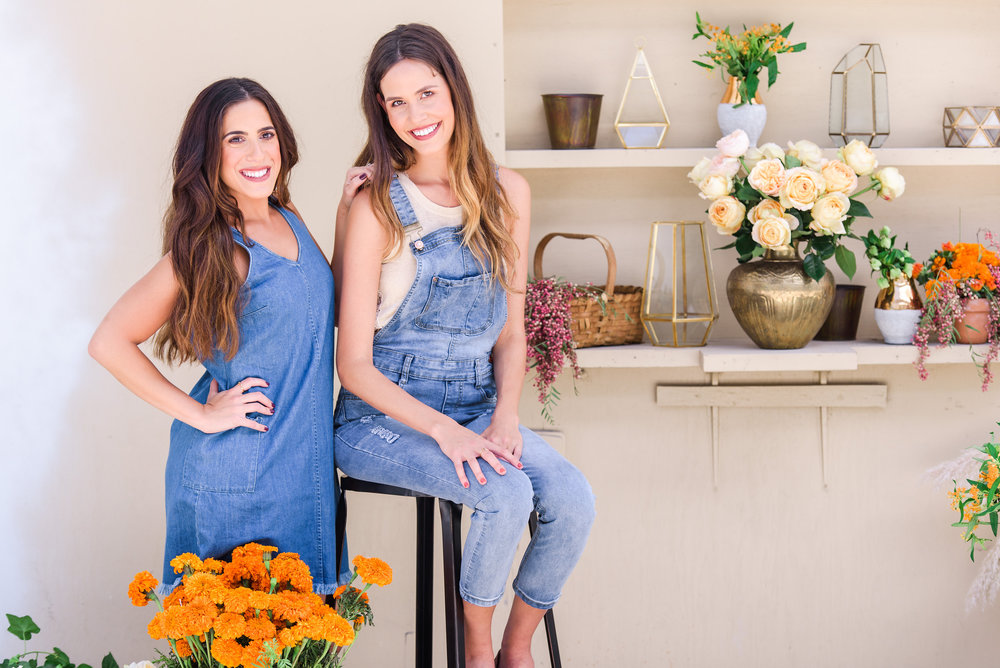 Catherine McNew (Left) & Jaclyn Montesano (Right) of Marigold Flower Co. Photo by Sarah and Ben Photography.