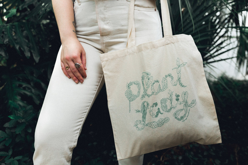 New tote bags by O'Berry's Succulents. Photo by Bridge + Bloom.