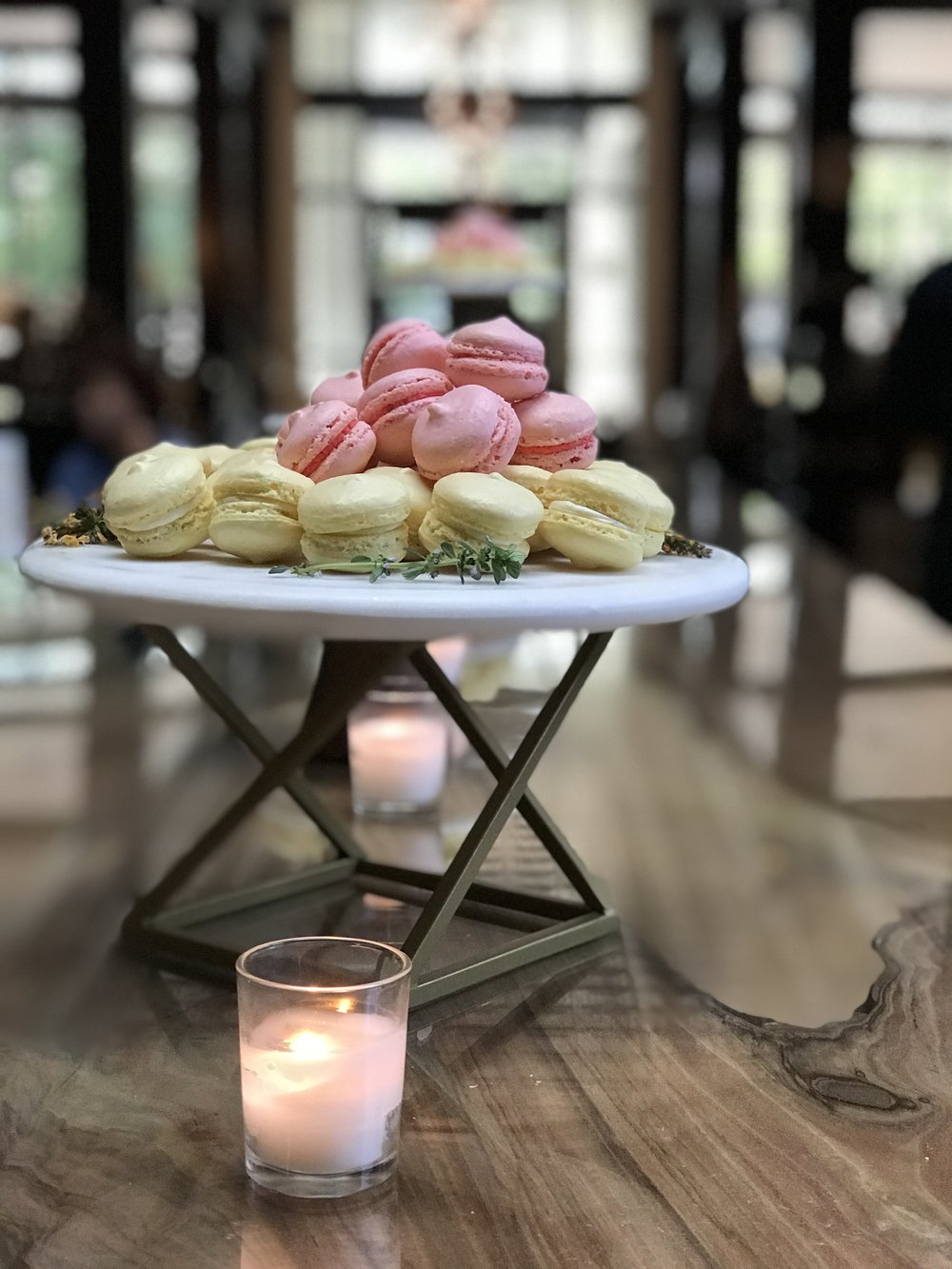 99 macarons on the table... 99 macarons. Take one down, eat it all up, 98 macarons on the table.