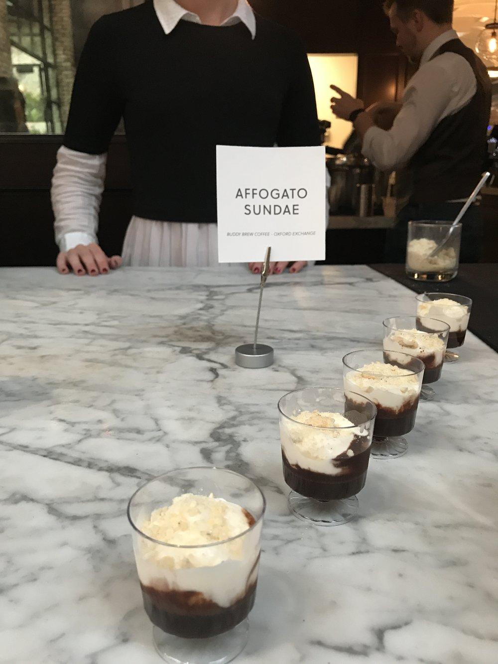 Buddy Brew Coffee's Affogato Sundaes were so delicious!