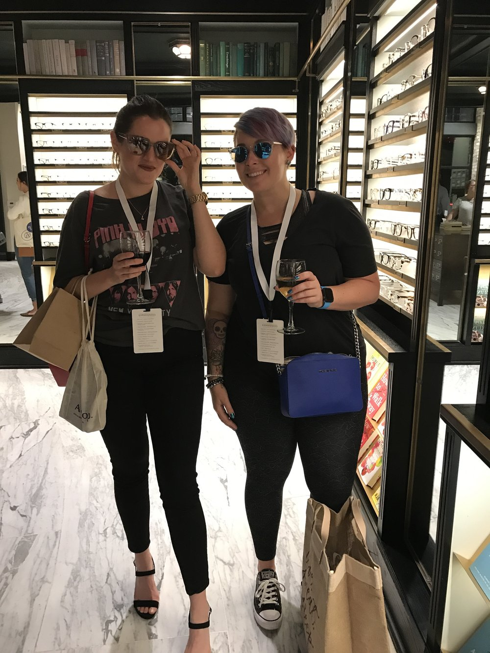 Sarah Maingot & Caiyln Connolly are lookin' fly as they try on different styles of Warby Parker sunglasses.