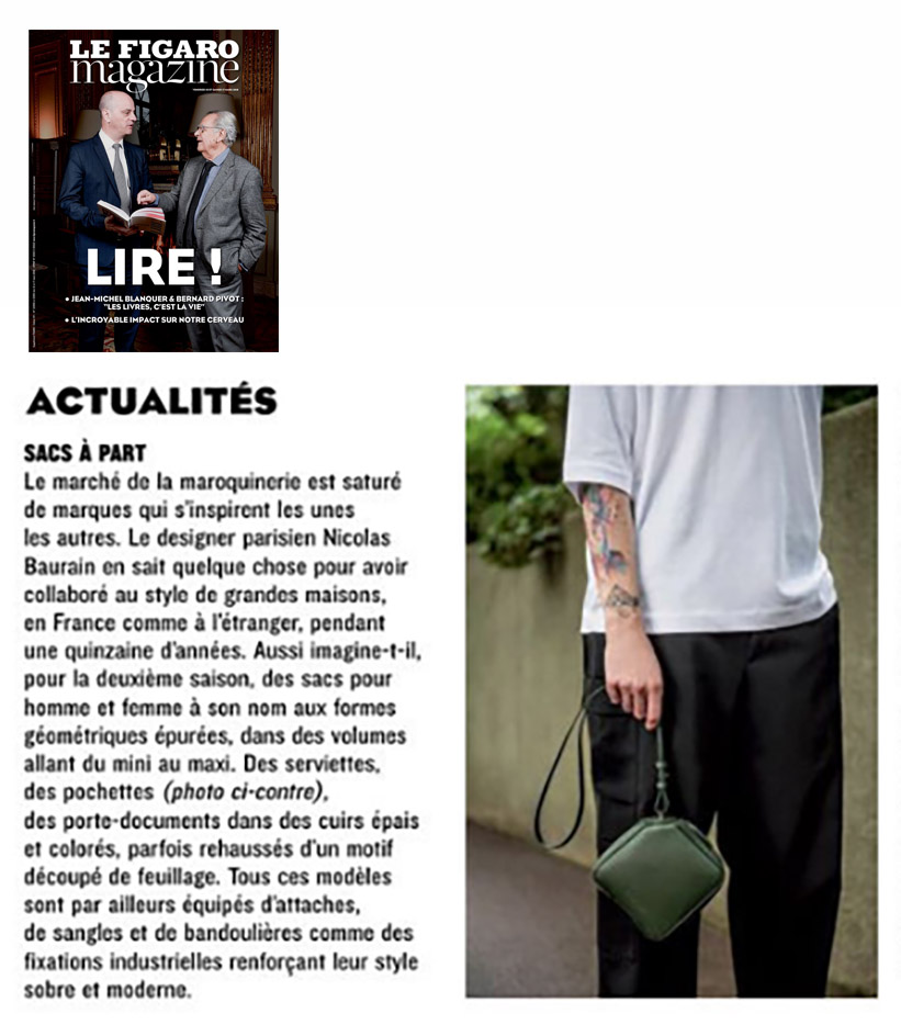 BAURAIN - Le Figaro Magazine March 2018