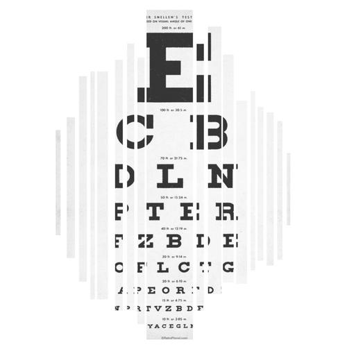 retro eye chart