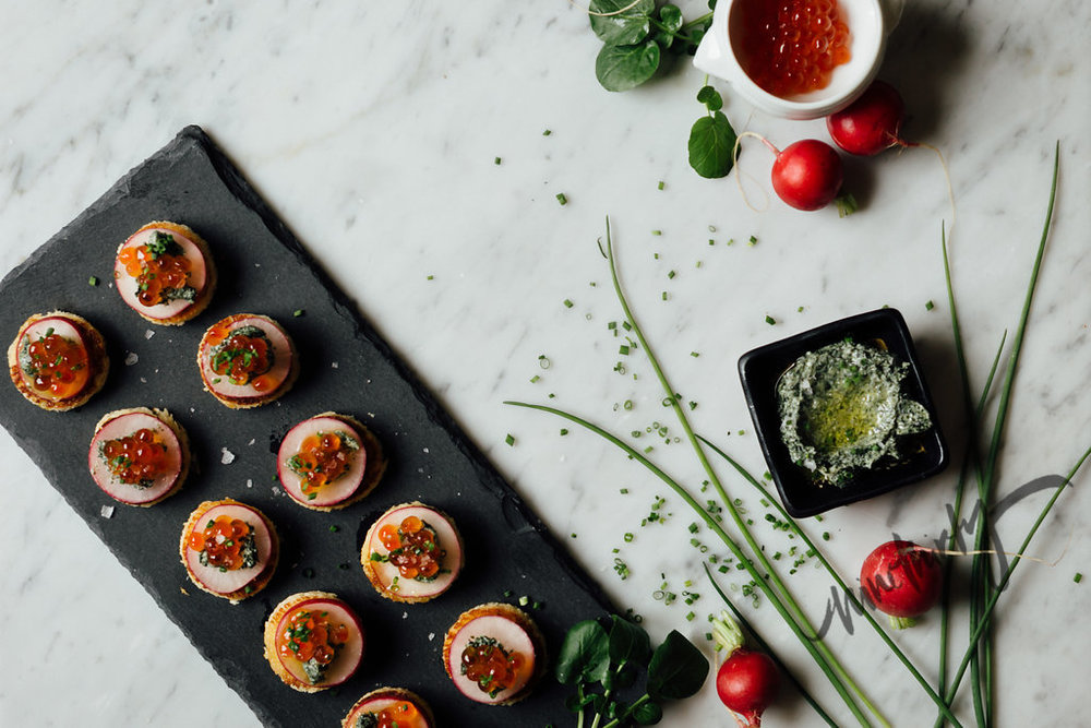 RADISH BUERRE  - stationary or passed hors d'oeuvres
