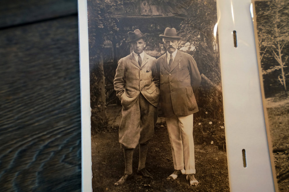 A family photograph of Mr. Heming and his father. Nicole Bengiveno for The New York Times