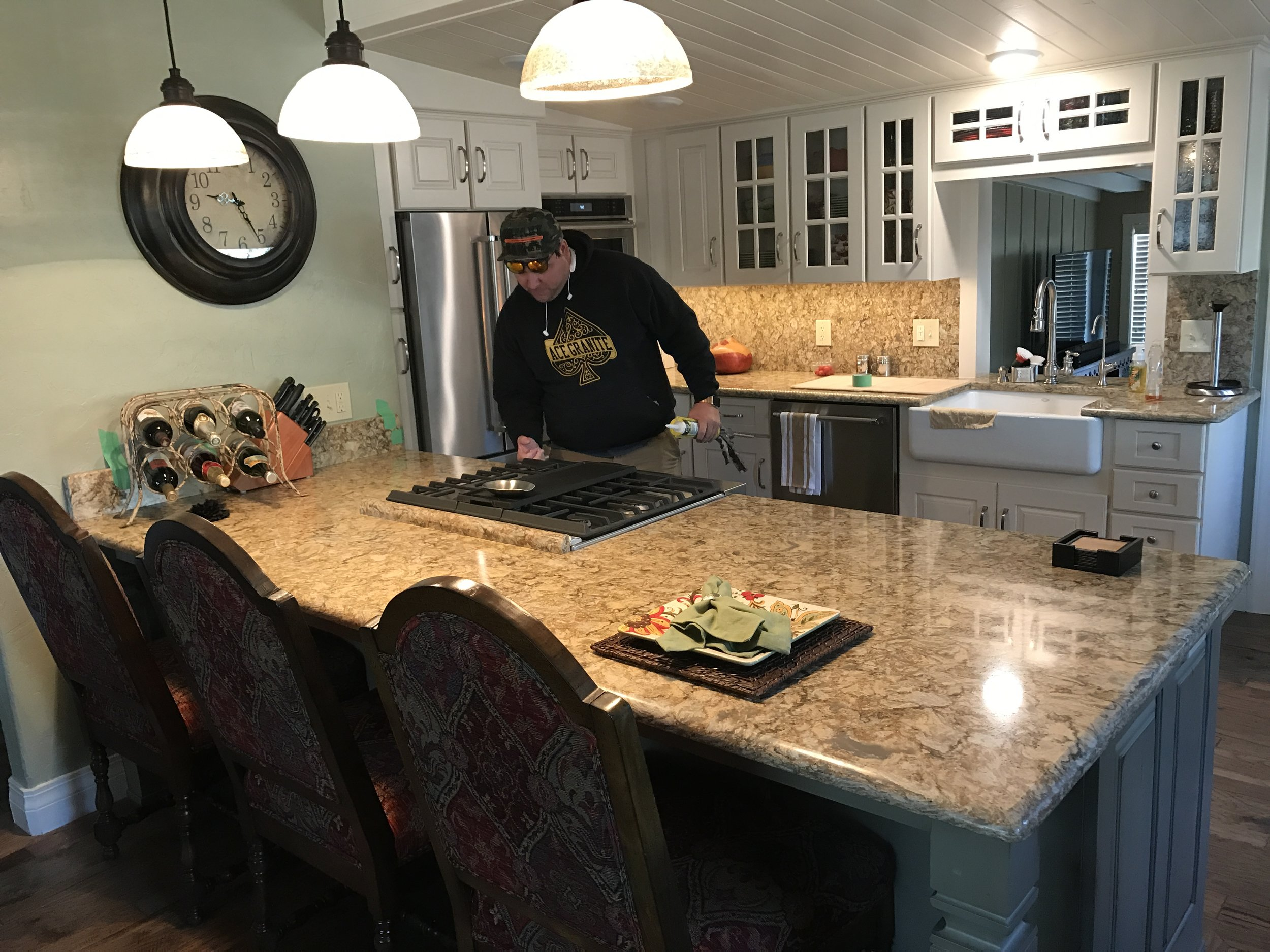 ideas countertops file affordable for of counter breathtaking unnamed with cabinets kitchen average cost c decoration gallery dark tan granite photos brown