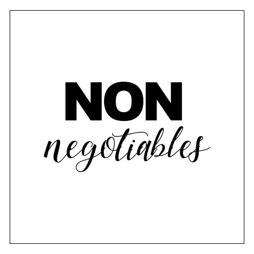 5 non negotiables dating