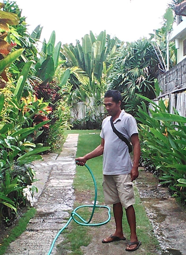 Made - Made is our most senior gardener. He has been with us since the beginning, tending to our first home's garden before Victoria Villas was established. His heart is just as big and beautiful as his smile. He loves playing volleyball in his free time, and prides himself in his work. His passion for plants is clear in his trade. No one can make a garden look as beautiful as he can.