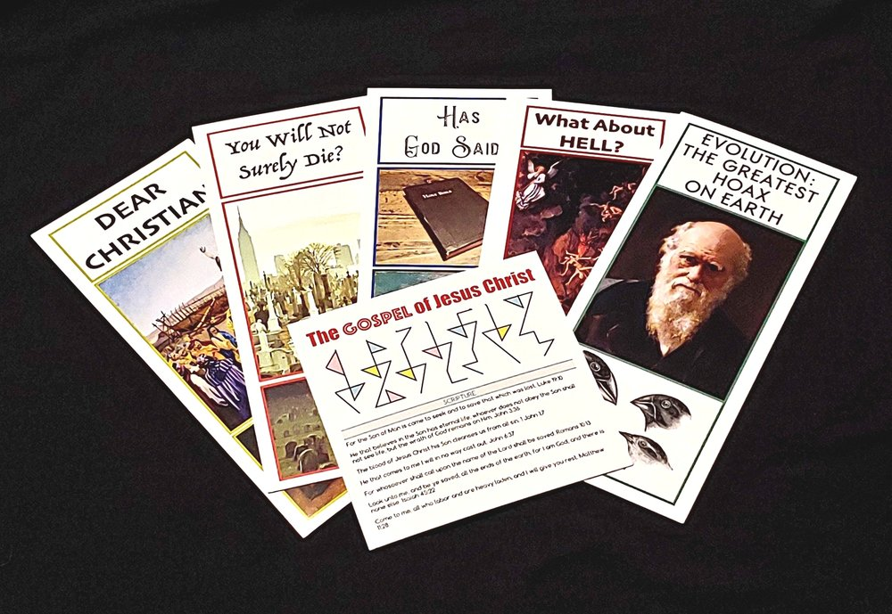 Click    HERE    to read or purchase our gospel tracts.