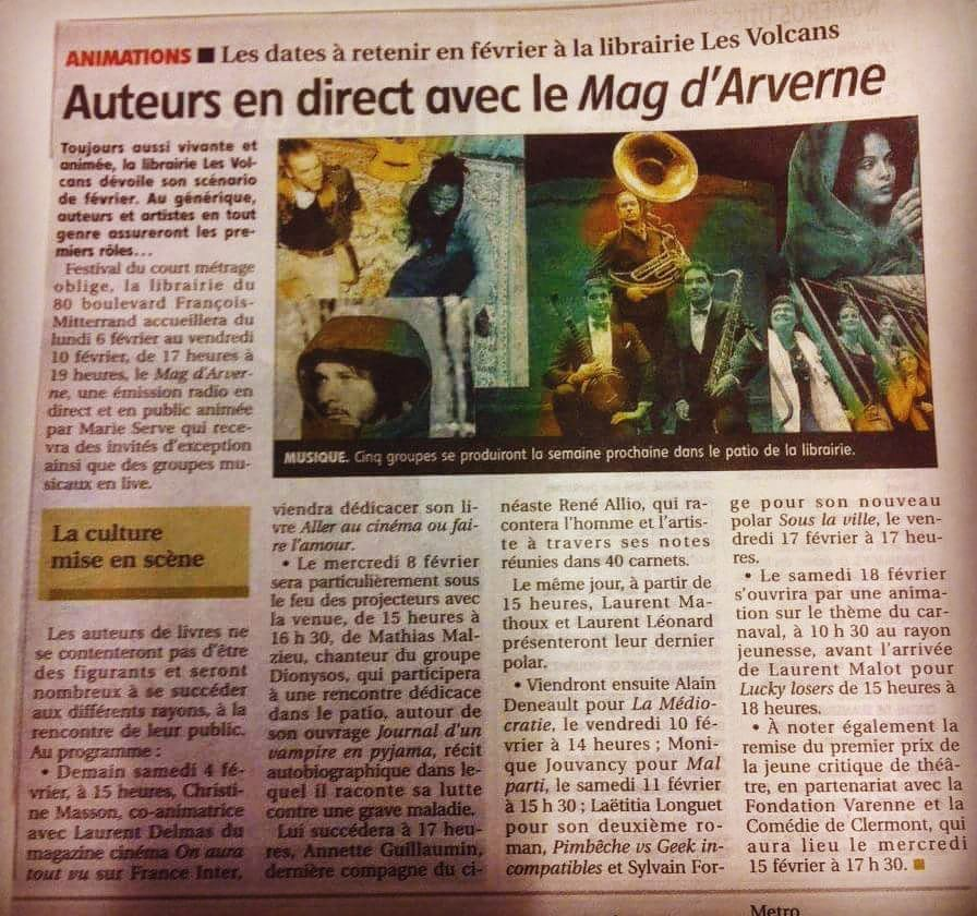 Thank you Mag du Court for the feature! Excited to perform at the Festival du court métrage de Clermont-Ferrand 2017 France in a few days <3 More info: https://www.facebook.com/Clermontferrandshortfilmfestival/
