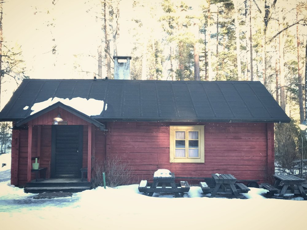 Our homebase in Nuuksio. The cabin was built in 1880.