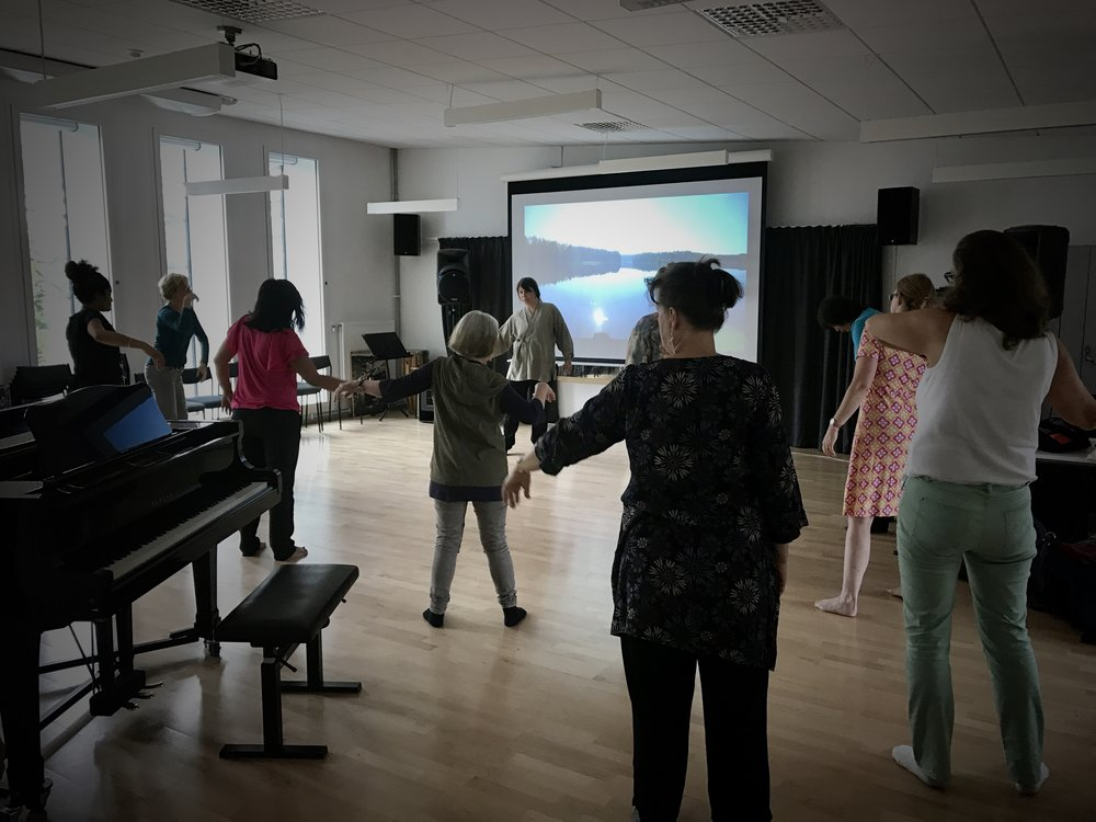 We can meet you anywhere in the world. Here a workshop at the Royal Music Academy in Stockholm, Sweden.