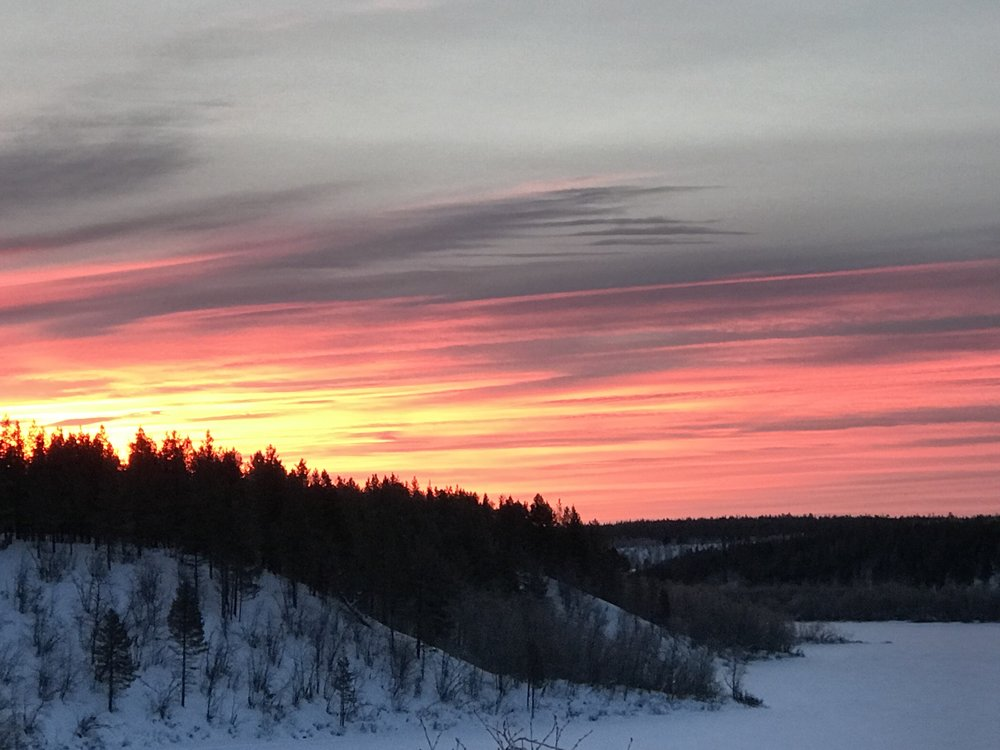 Anarjohka River in January, two weeks before sunrise. Photo: Sanni / SoundByNature