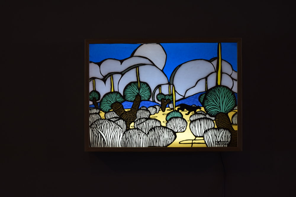 """Nadine Keegan """"Sighted"""" New and recycled glass, lightbox  See more of her work   HERE"""