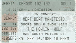 Meat Beat Manifesto 1996