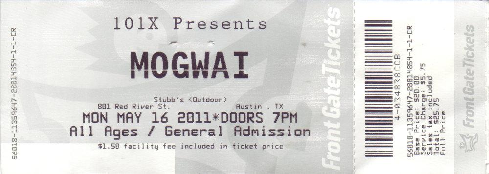 Mogwai 2011