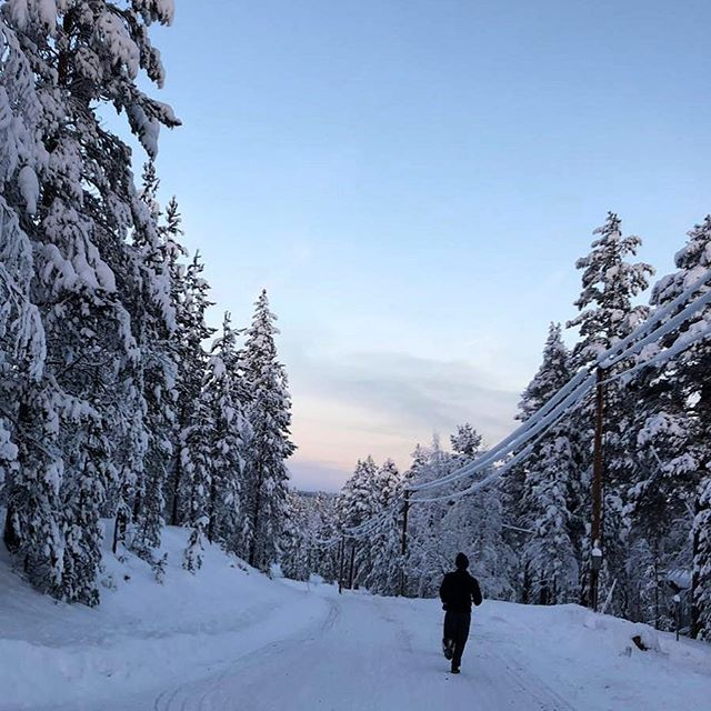 Will you run in any conditions? Incredible winter landscape near the Sweden/Norway border and a chilly -12 outside today ☃️ #winterrunning #runwithme #sweden #runwithmeworld
