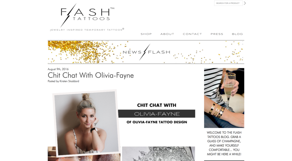 FLASH TATTOOS FEATURE. Read the full interview  here