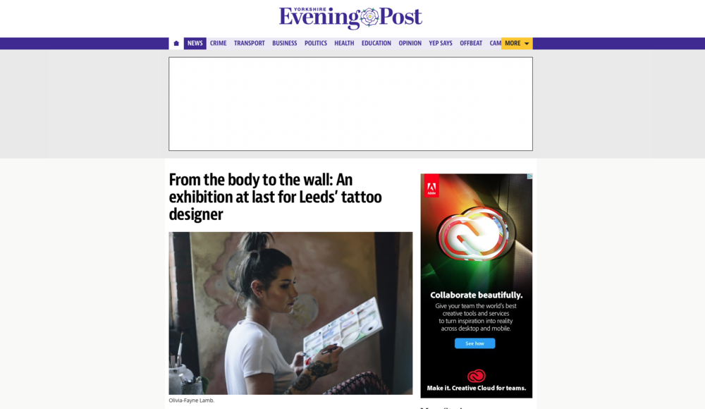 Yorkshire evening post interview - click to read full interview