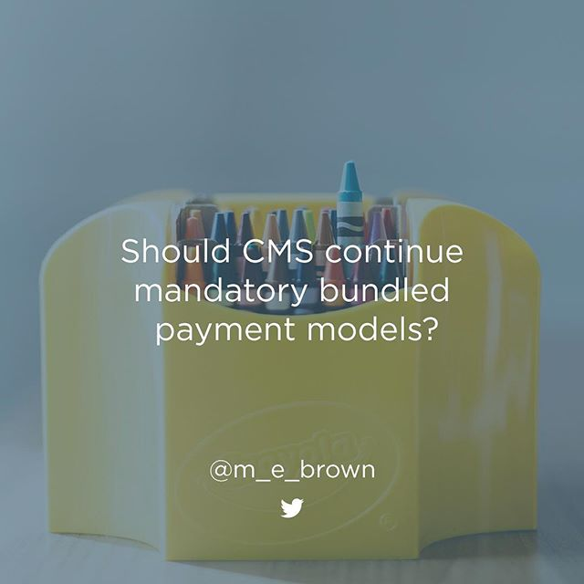 As #CMS plans cancellations, should they force #healthcare organizations to #evolve into a value-based world? What do you think? @m_e_brown sounds off: link in bio. #Noted #VBC #bundled #payments #APMs #MACRA #MIPS