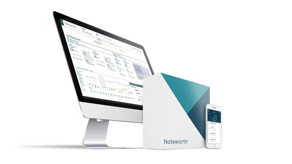 Noteworth platform: Dashboard, Noteworth Reports, Noteworth App, Noteworth Box